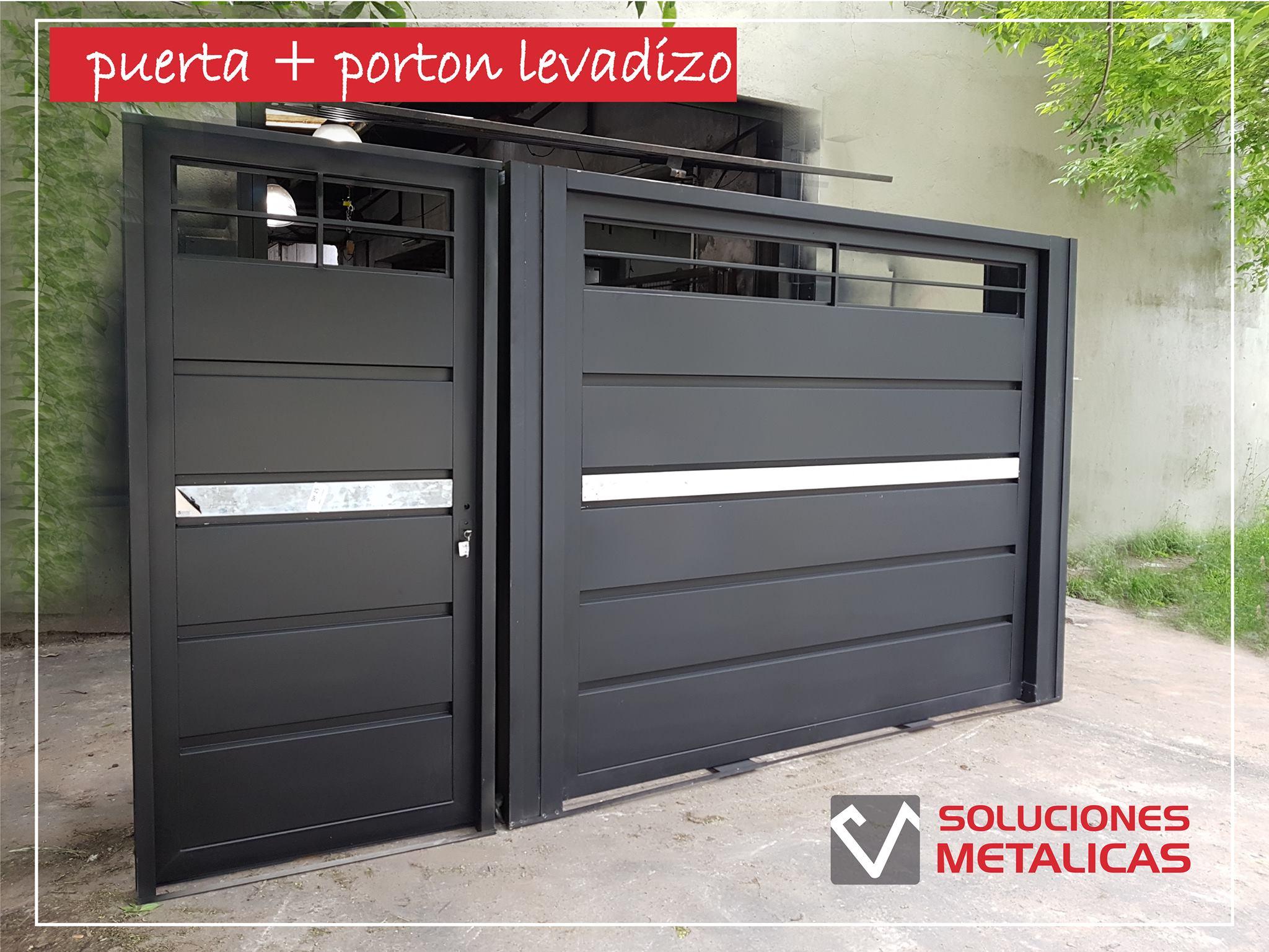 Portones corredizos levadizos pivot soluciones met licas - Fotos de puertas metalicas para casas ...